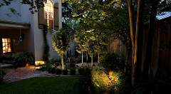 Why you should have landscape lighting. Photo