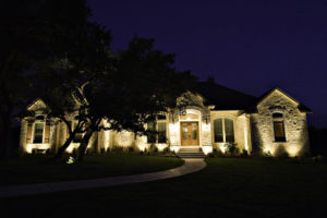 landscape lighting for security