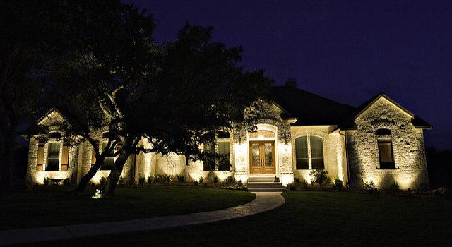 landscape lighting for security